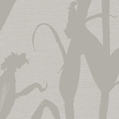 Chesterfield-Corn Silhouette Wallpaper in Grey