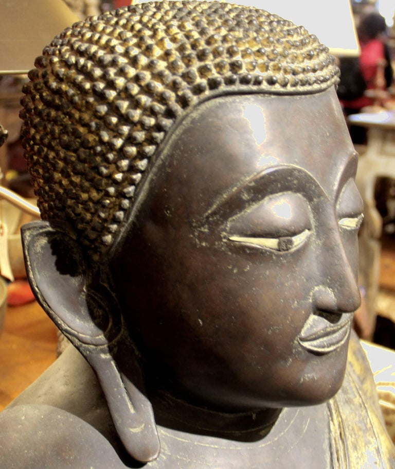 This prominent Buddha is from Thailand, 19th century.