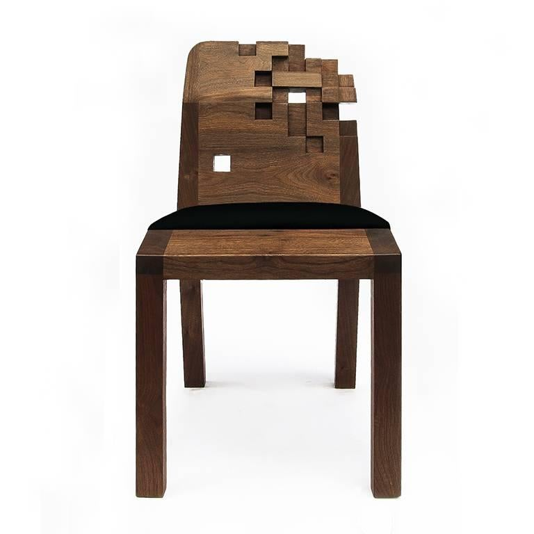 Contemporary Set of Pixel Chairs in Walnut by Olivier Dollé In New Condition For Sale In Paris, FR