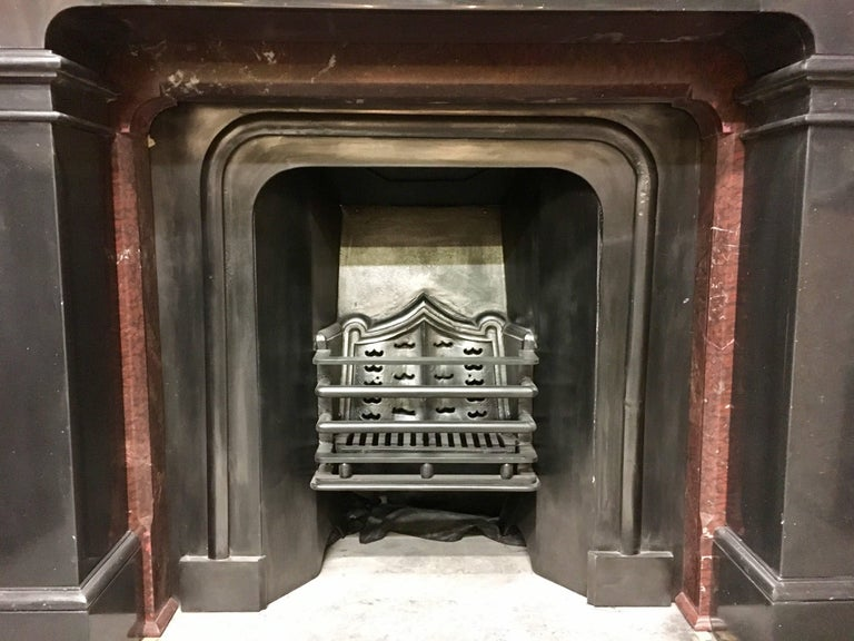 19th Century Victorian Black Marble Fireplace Surround For Sale At 1stdibs