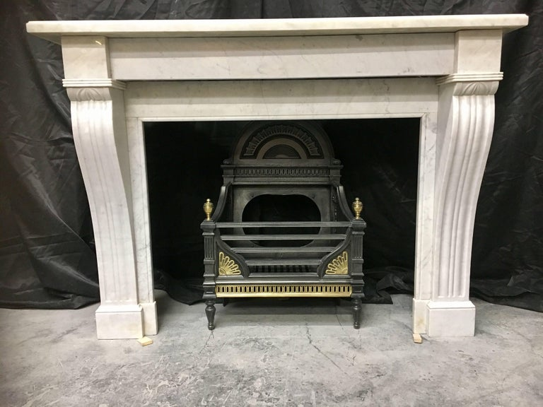 Antique Victorian French Fireplace Surround For Sale 2