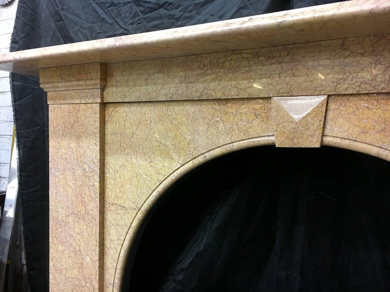 Marble Antique Victorian Arch Fireplace Surround For Sale