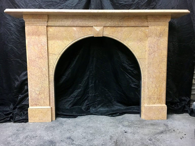 Antique Victorian Arch Fireplace Surround For Sale 4