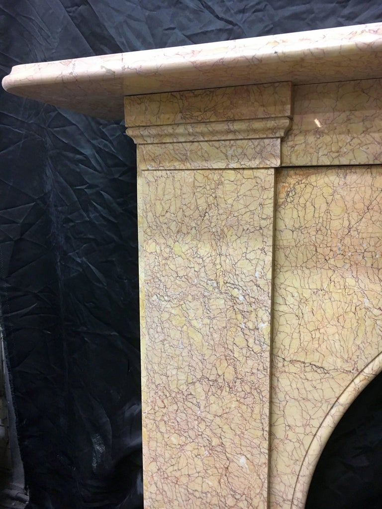 English Antique Victorian Arch Fireplace Surround For Sale