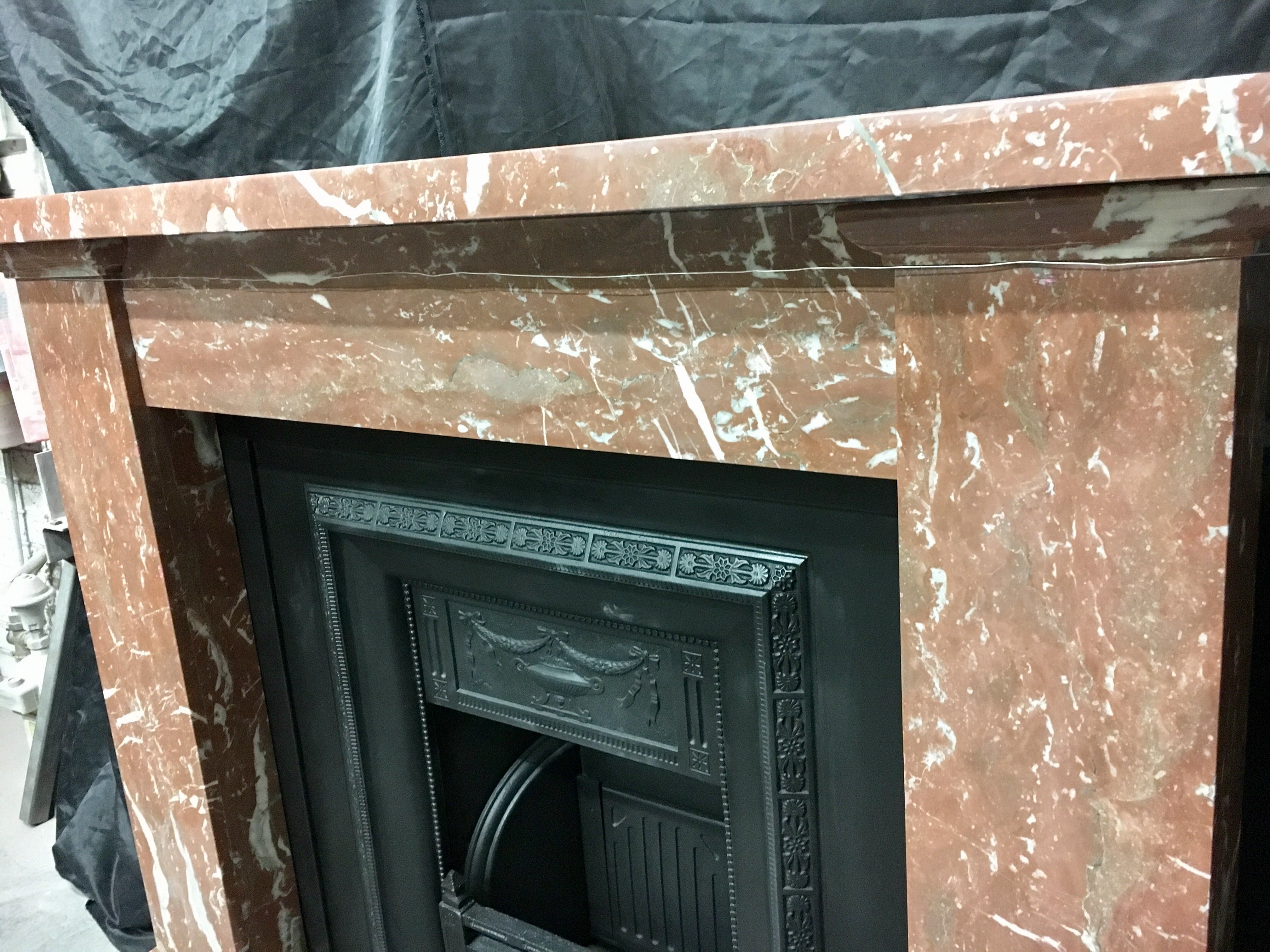 Victorian Red Rossa Marble Fireplace Surround At 1stdibs