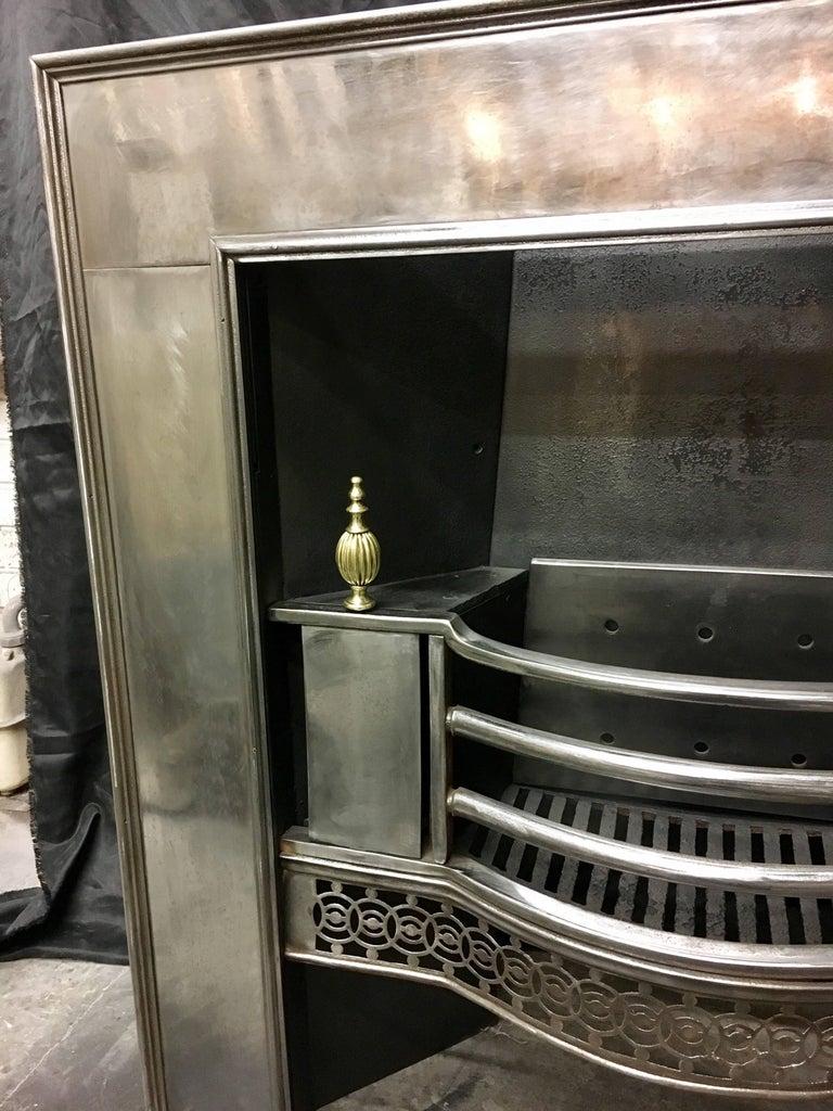Marvelous Antique Georgian Cast Iron And Brass Register Grate Fireplace Insert Download Free Architecture Designs Pushbritishbridgeorg