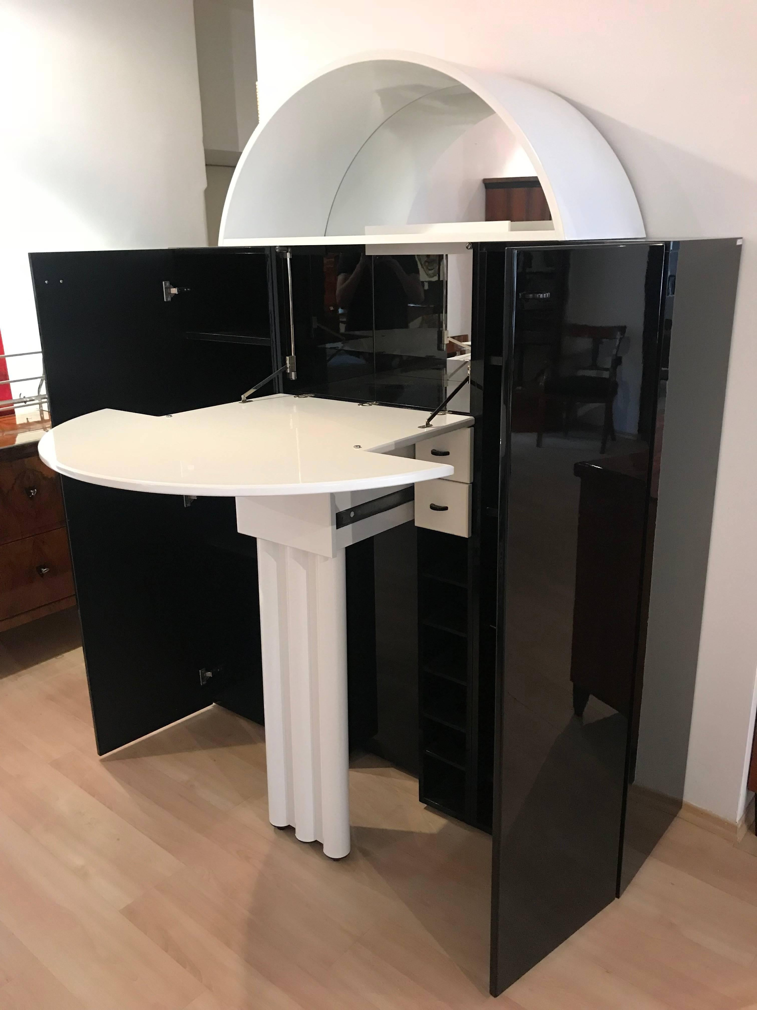 Space Age Expandable Bar Cabinet From Interlübke, Germany 1970s For Sale