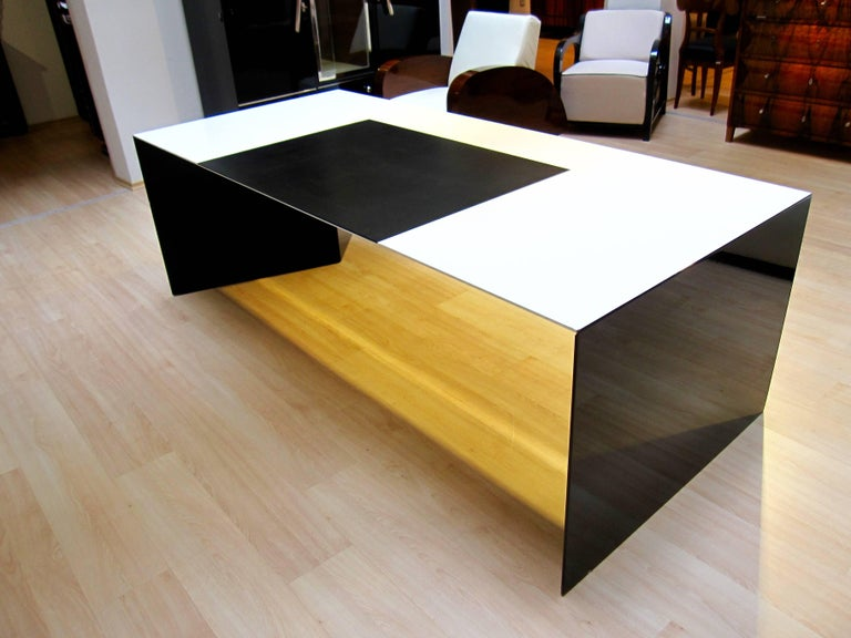 Polished Big Executive Desk from Rosenthal, Germany, 1981 For Sale