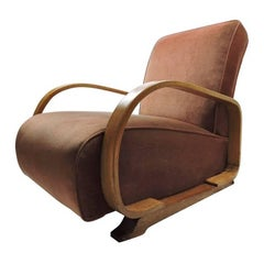 Art Deco Bentwood Upholstered Armchair Made for Heals in the 1920s-1930s