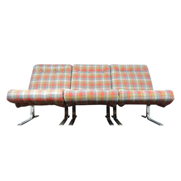 Danish Three Sectional Modular Sofa For Sale