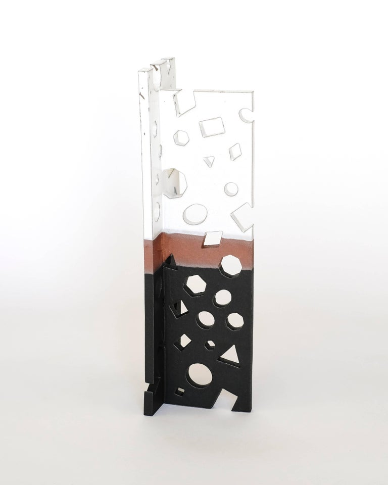 This is a one of a kind ceramic sculpture by renowned Los-Angeles artist, Ben Medansky, whose work is in the permanent collection of the Los Angeles County Museum of Art as well as the Smithsonian Cooper Hewitt Design Museum. Medansky has developed