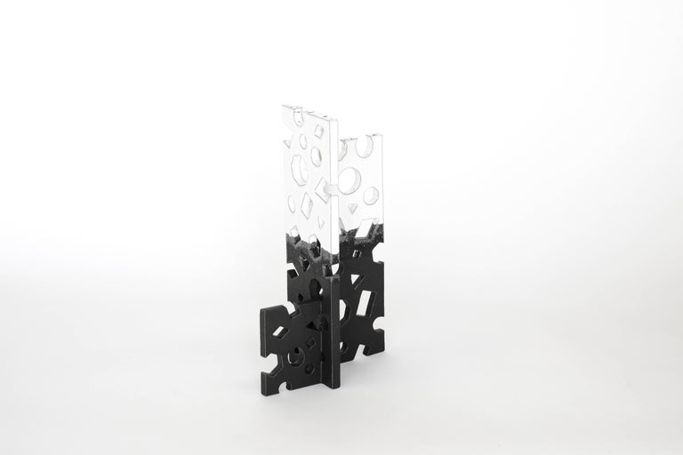 American Black and White Glazed Ceramic Sculpture