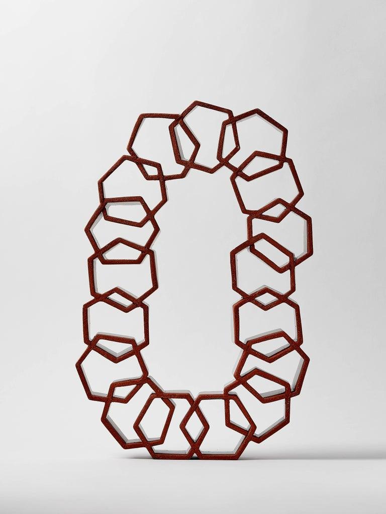 Brutalist Hexagon Ceramic Sculpture by Ben Medansky For Sale