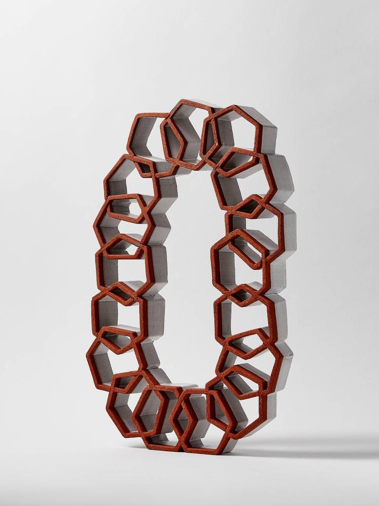 American Hexagon Ceramic Sculpture by Ben Medansky For Sale
