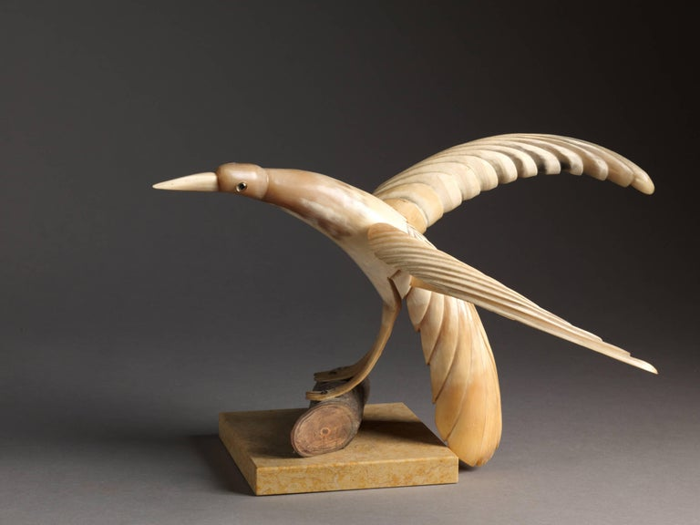 Collection of 70 Vintage Hand-Carved Cow Horn Sculptures, 20th Century For Sale 2