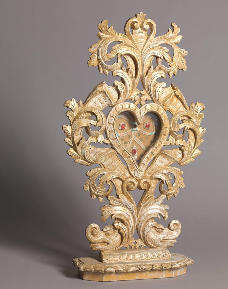 Belgian Set of Three Wooden Catholic Reliquaries, 18th Century For Sale