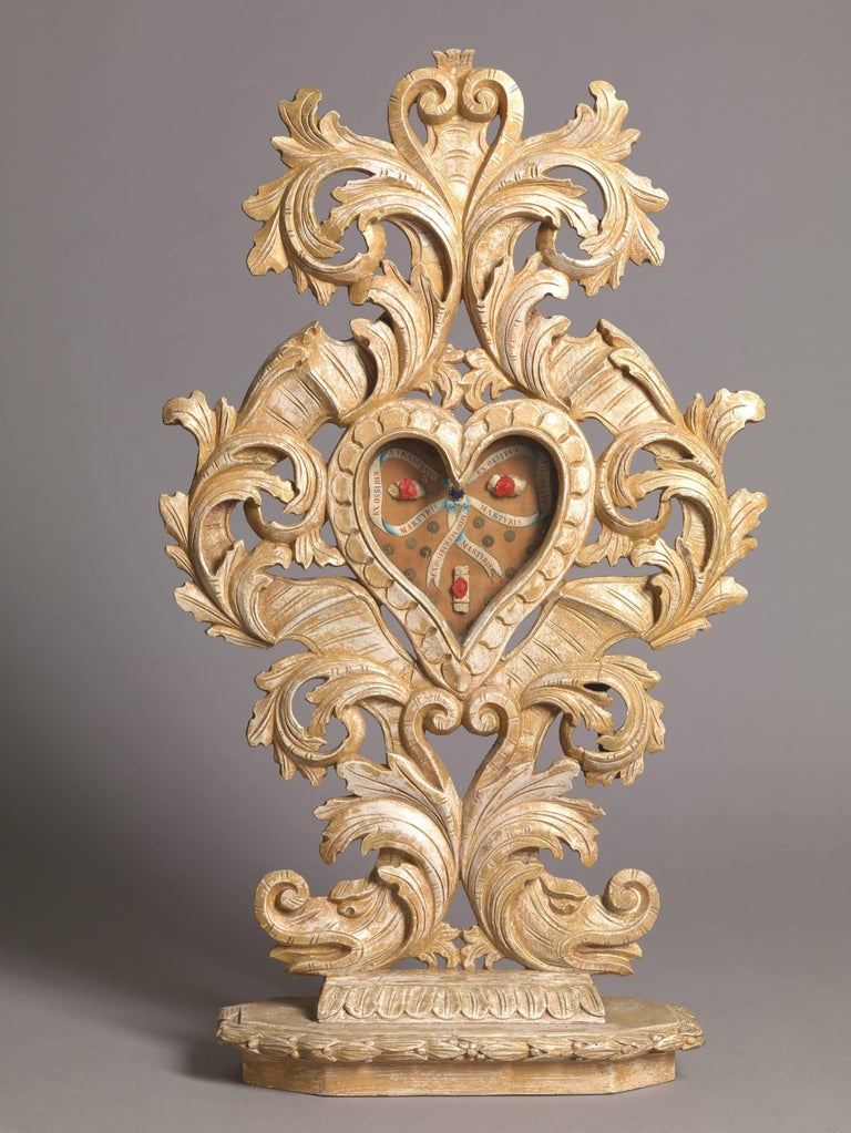 Set of Three Wooden Catholic Reliquaries, 18th Century For Sale 2