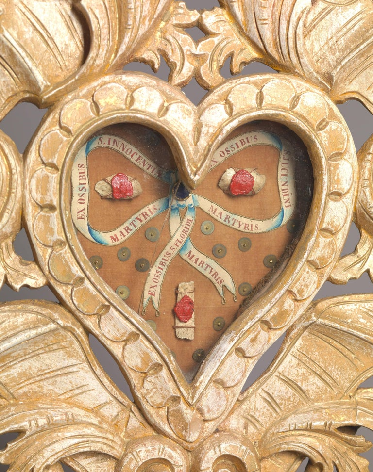 Set of Three Wooden Catholic Reliquaries, 18th Century For Sale 3