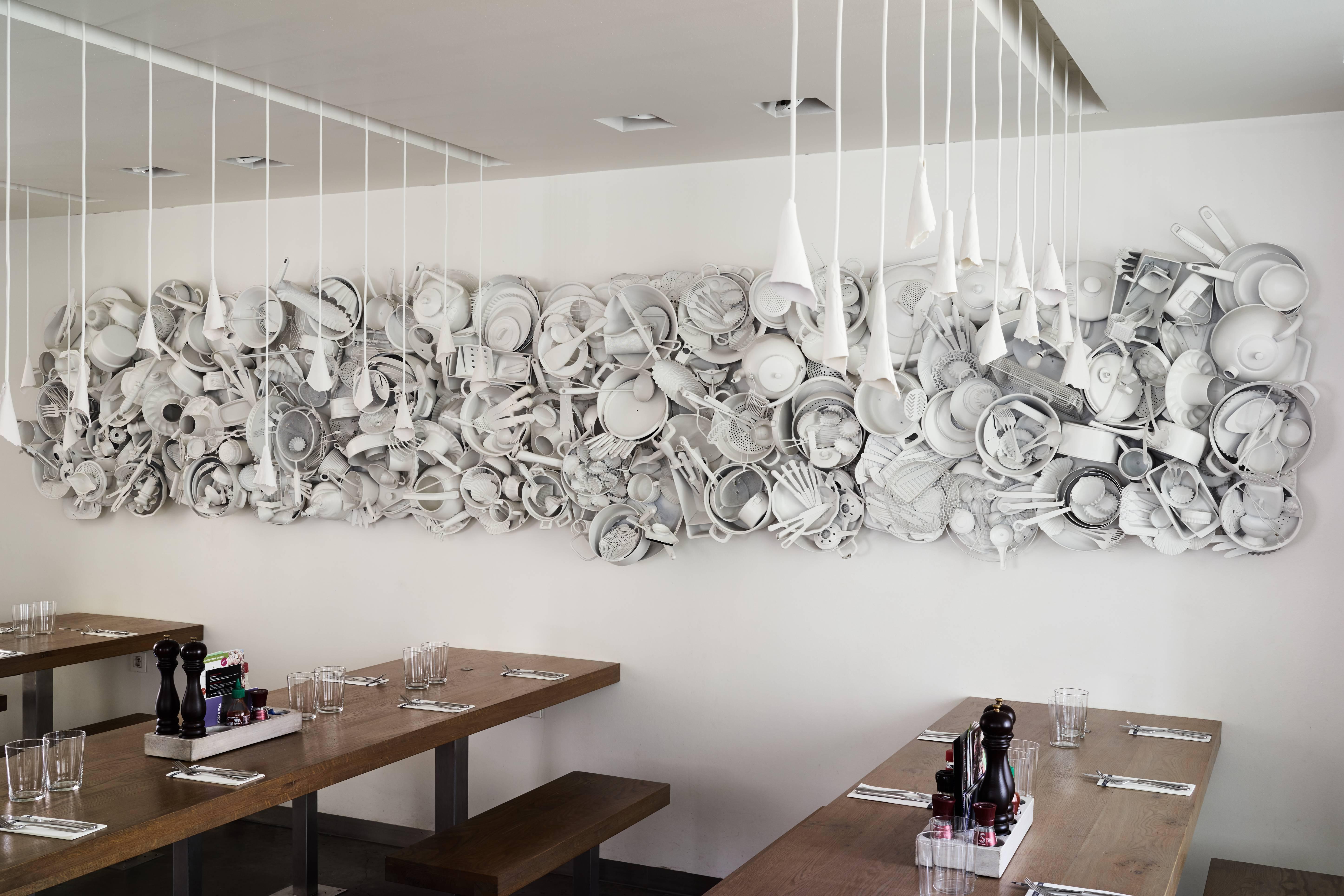 Delightful Belgian No Limits Kitchen Utensils Fine Art Wall Sculptures For Sale