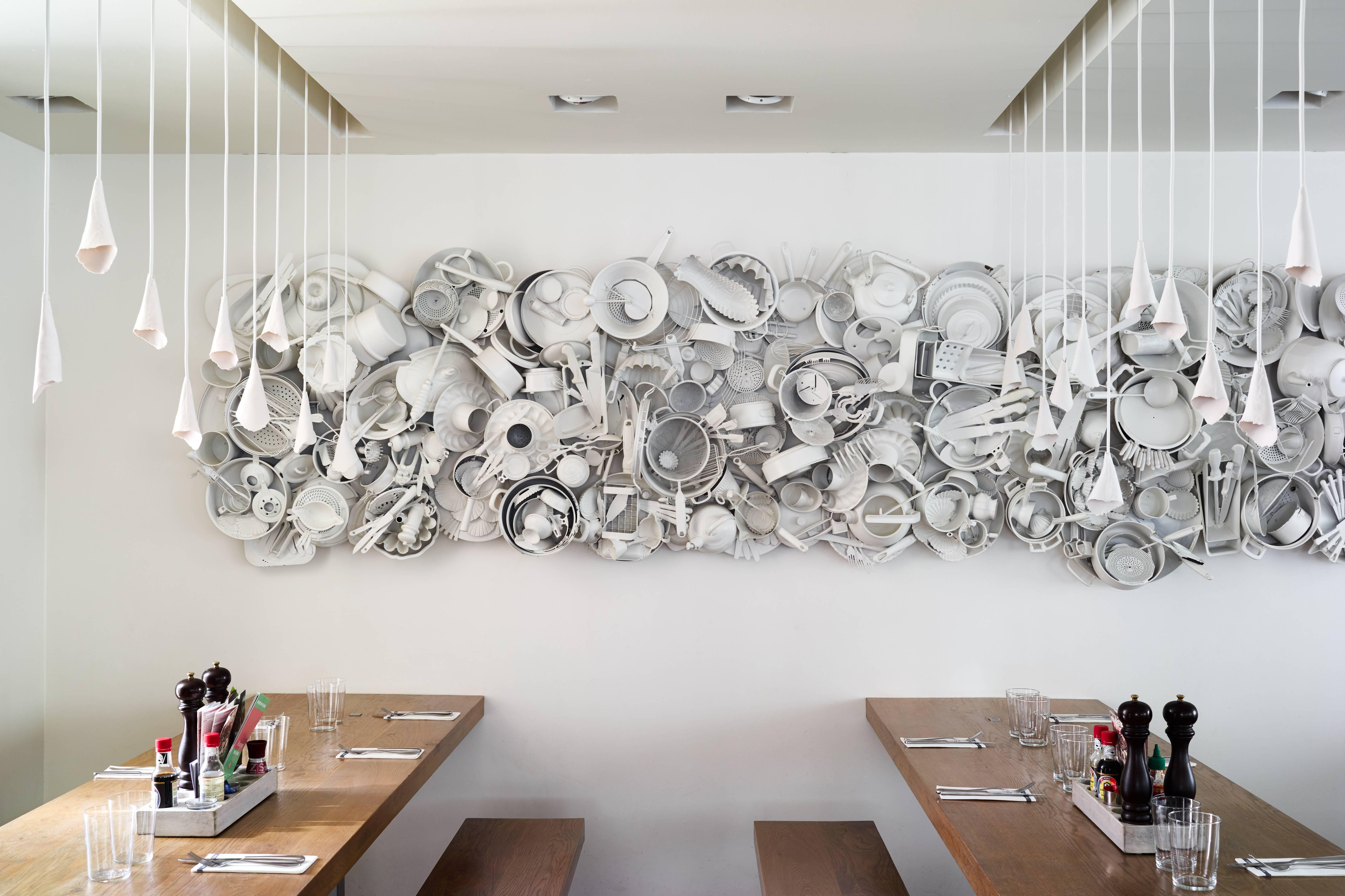 Contemporary No Limits Kitchen Utensils Fine Art Wall Sculptures For Sale