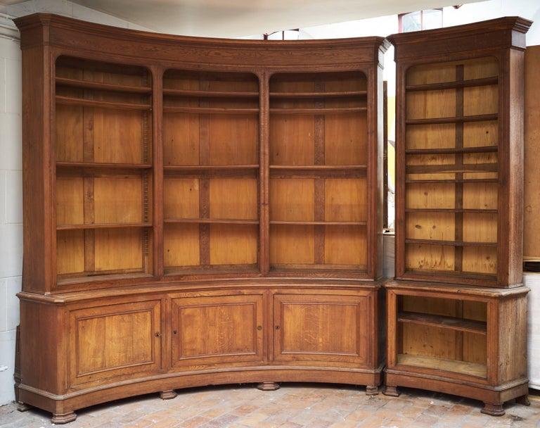 Louis Philippe Open Bookcase: 19th Century Louis Phillippe Circular Liberary Bookcase