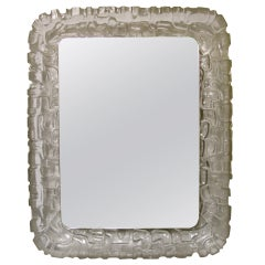 Large Kalmar Acrylic Rectangular Illuminated Wall Mirror
