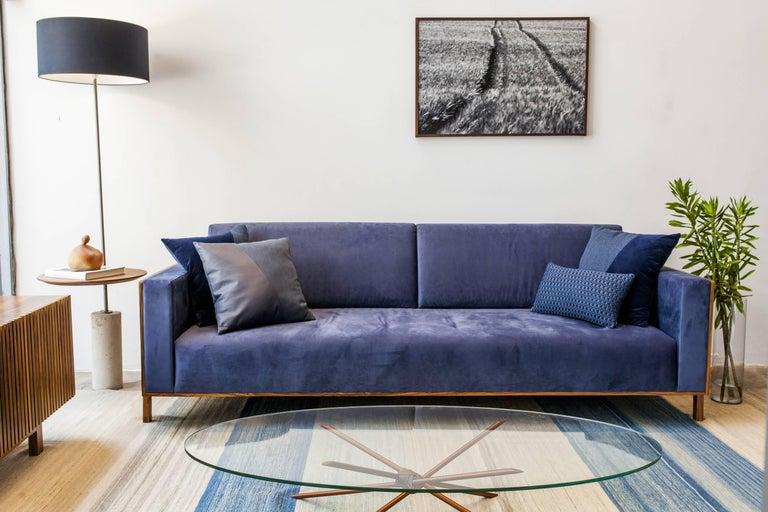 Modern Giro Minimalist Floor Lamp In Painted Steel, Walnut and Concrete For Sale