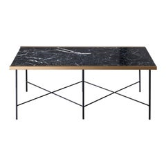 CRUZ Marble Coffee Table with Steel Legs by Ries