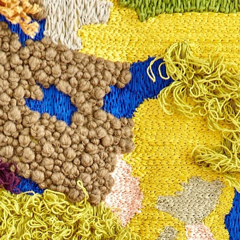 Lakeshore inspired contemporary tapestry.