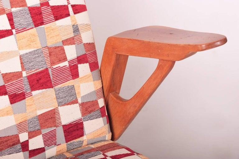 Mid-20th Century Pair of Mid-Century Oak Armchairs, 1960s, Czechoslovakia For Sale