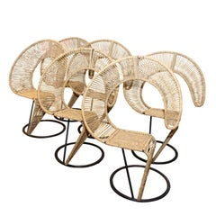 Italian Rope Chairs by Tom Dixon, 1980s, Set of Six