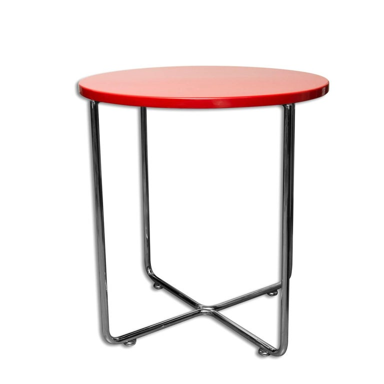 Czech Bauhaus Coffee or Side Table from Vichr & Spol, 1930s, Bohemia For Sale