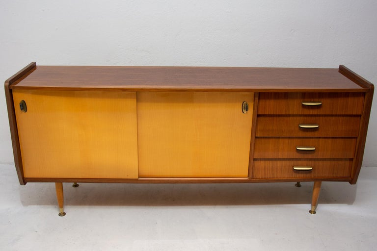 Mid-Century Modern Italian Midcentury Mahogany Sideboard from the 1960s For Sale