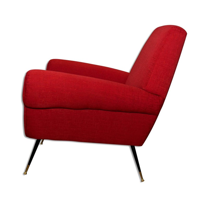 Midcentury Italian Armchairs by Gigi Radice for Minotti, Set of Two For Sale 2