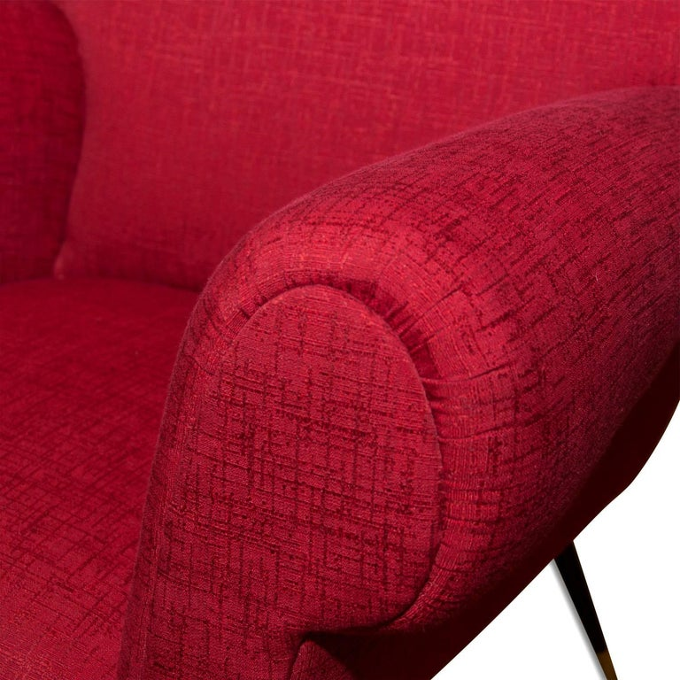 Midcentury Italian Armchairs by Gigi Radice for Minotti, Set of Two For Sale 4
