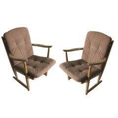 Midcentury Eastern bloc Armchairs, 1960s, Set of Two