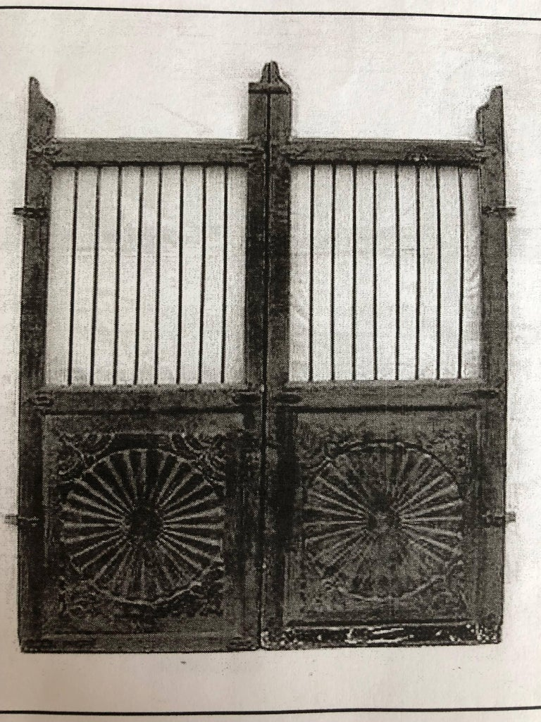 Set of 19th Century Teak Indian Garden Gates For Sale 1