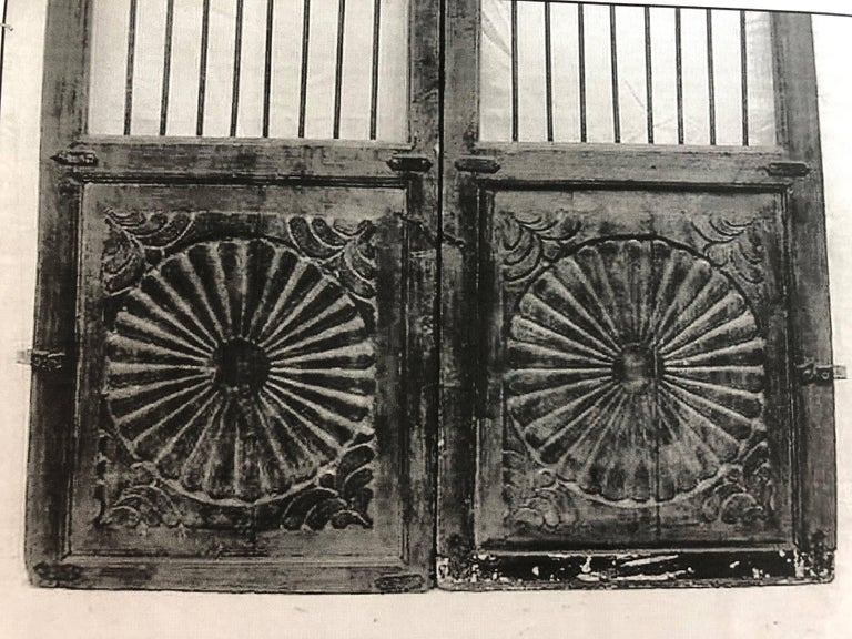 Set of 19th Century Teak Indian Garden Gates For Sale 2