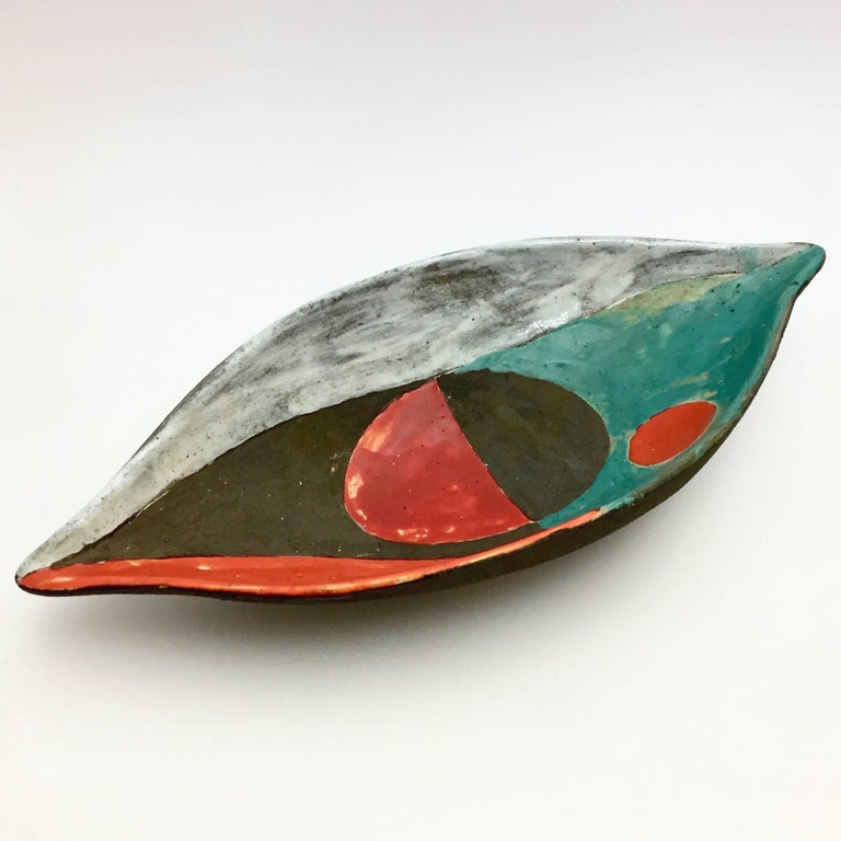 Mid-Century Modern Gilbert Valentin - Mid Century Modern Ceramic Bowl For Sale