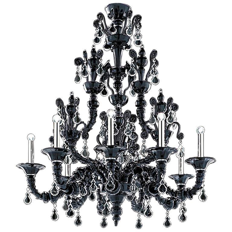 Barovier and toso six light taif black murano glass chandelier 5350 barovier toso six light taif black murano glass chandelier 53506c in aloadofball Choice Image