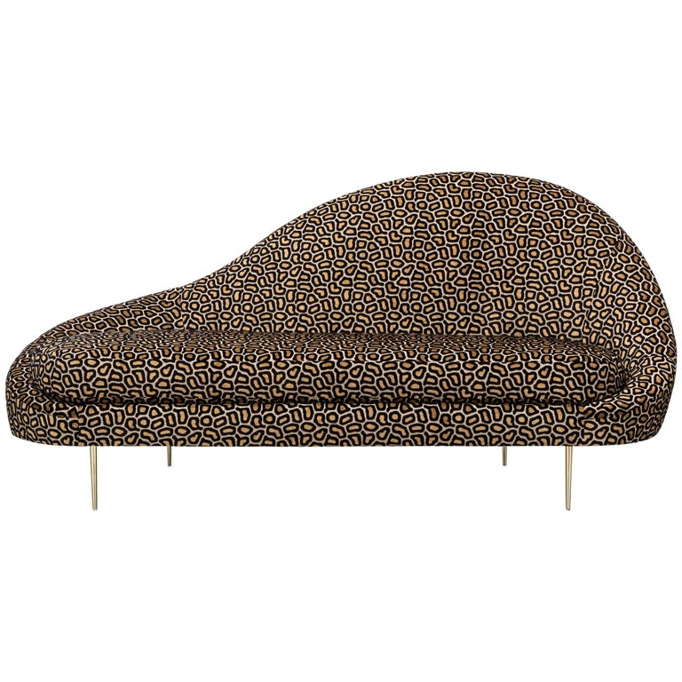 Sandrine Chaise Leopard Showroom Sample For Sale