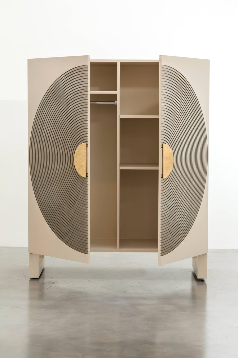 Halo Wardrobe Cabinet Bisque Lacquer For Sale At 1stdibs