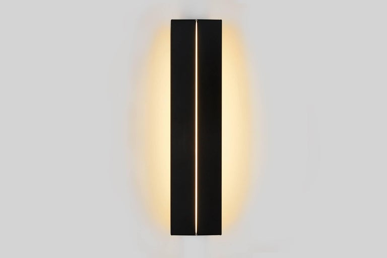 American Outdoor Rated Ada Sconce 25 Black by Brendan Ravenhill For Sale
