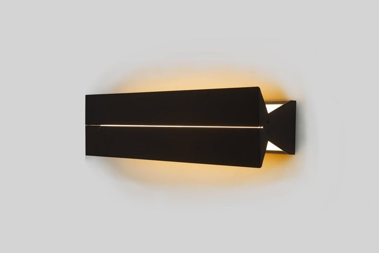 Painted Outdoor Rated Ada Sconce 25 Black by Brendan Ravenhill For Sale
