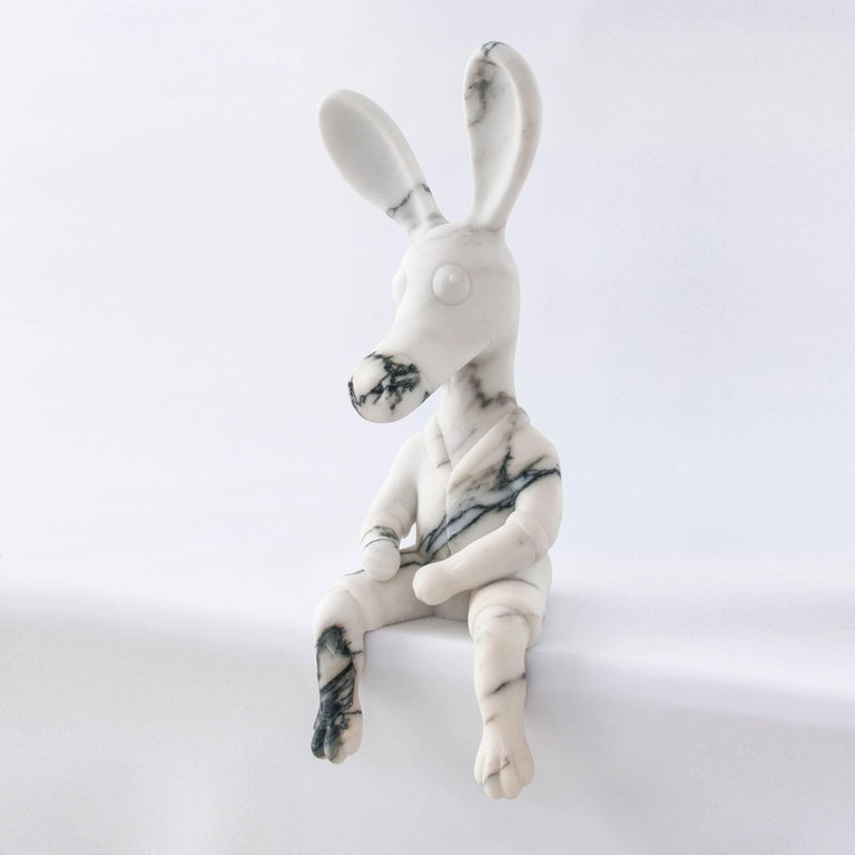Stoned Donkey, Marble Sculpture Made in Italy In New Condition For Sale In Carrara, IT