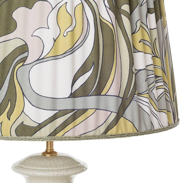 Hollywood Regency Pair of Striped Ceramic Table Lamps For Sale