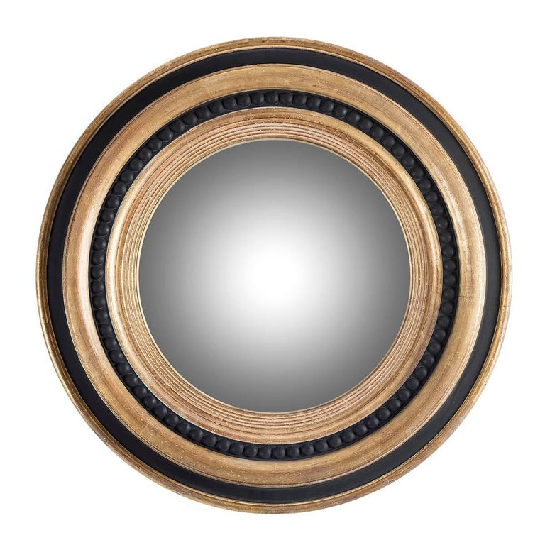 Large round wooden mirror with pearls inlay for sale at Large wooden mirrors for sale