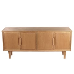 Swedish Sideboard in Light Oak from 1960s
