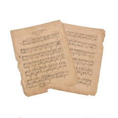 Antique Swedish Musical Notes from Different Musical Compositions