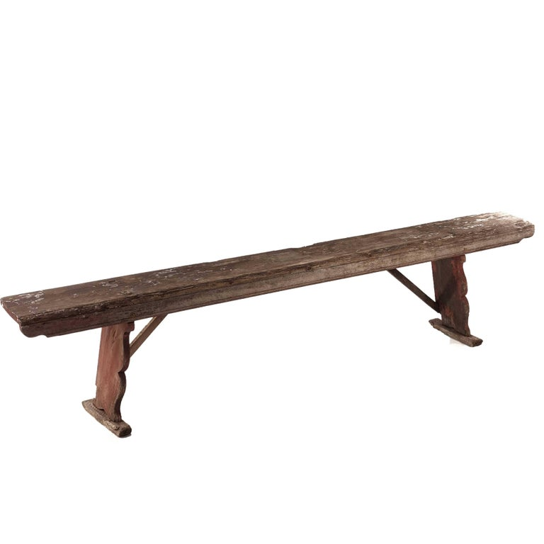 Allmoge Bench from Sweden Late 1800s in Pine